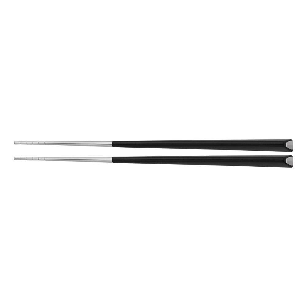 Černobílé jídelní hůlky z nerezové oceli Jean Dubost