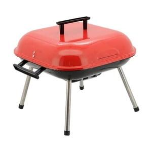 Červený gril na dřevěné uhlí Cattara Table