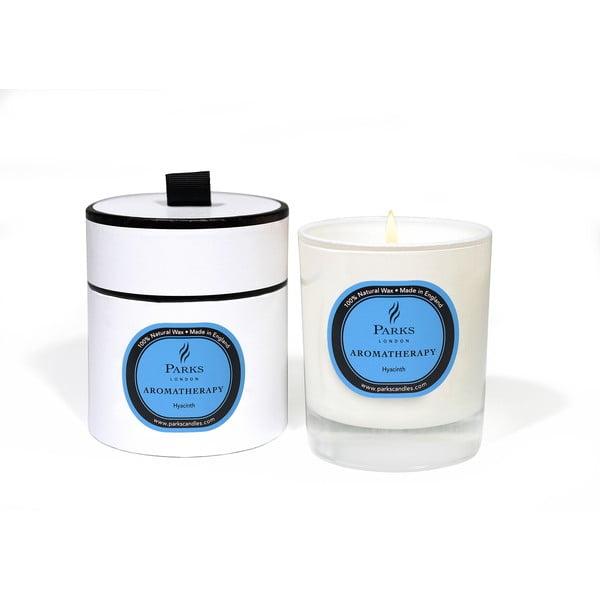Lumânare parfumată cu aromă de zambilă Parks Candles London Aromatherapy, 50 ore