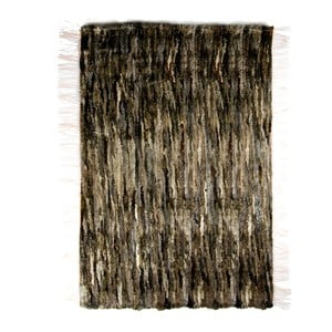 Koberec z ovčí kůže 100x160 cm, tmavý