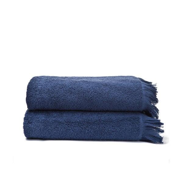 Bath kék pamut fürdőlepedő, 2 darab, 70 x 140 cm - Casa Di Bassi