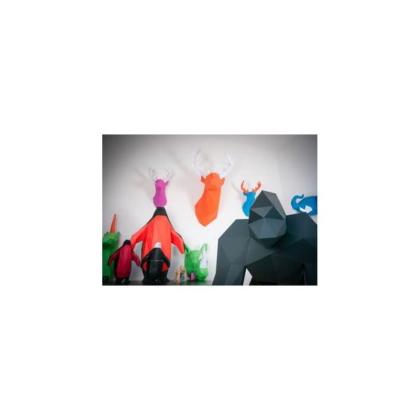Papírová socha Gorila, růžová
