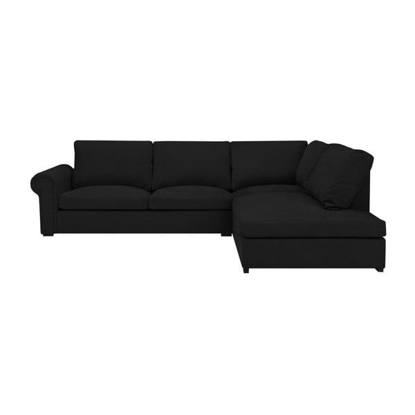 Černá pohovka Windsor & Co Sofas Hermes, pravý roh