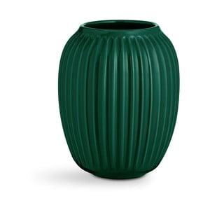 Zelená kameninová váza Kähler Design Hammershoi,výška 20 cm