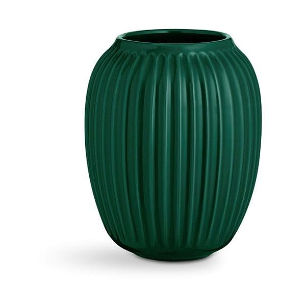 Hammershoi zöld agyagkerámia váza, magasság 20 cm - Kähler Design