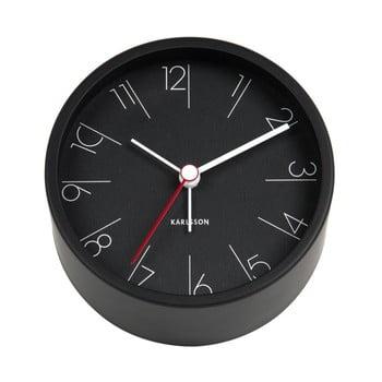 Ceas alarmă Karlsson Numbers, Ø 11 cm, negru de la Karlsson