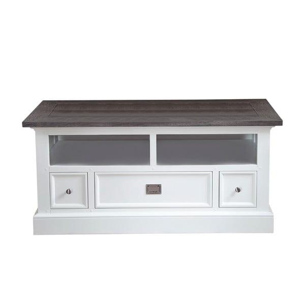 Bílý televizní stolek Canett Skagen TV, 3 zásuvky