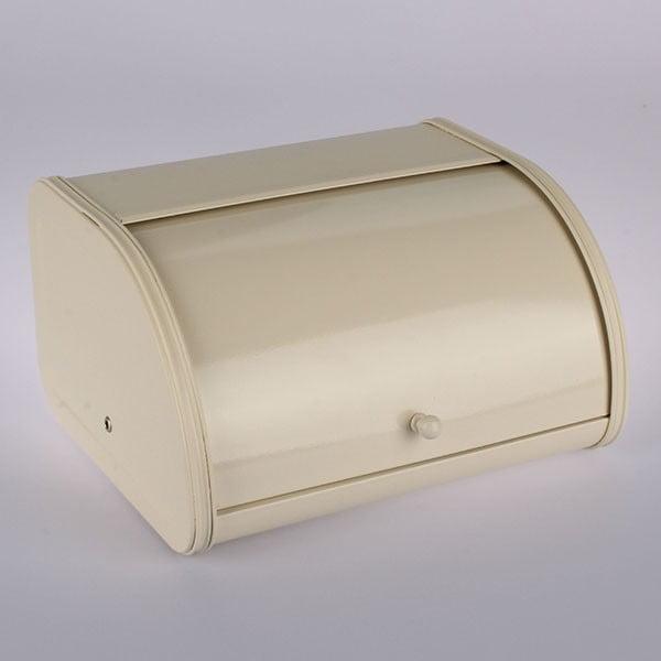 Plechový chlebník Creme, 30x17x25,5 cm