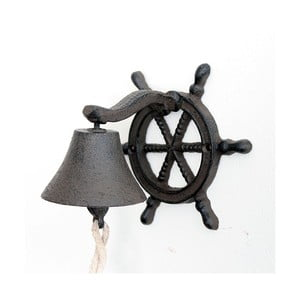 Litinový nástěnný zvonek Sea, tmavý