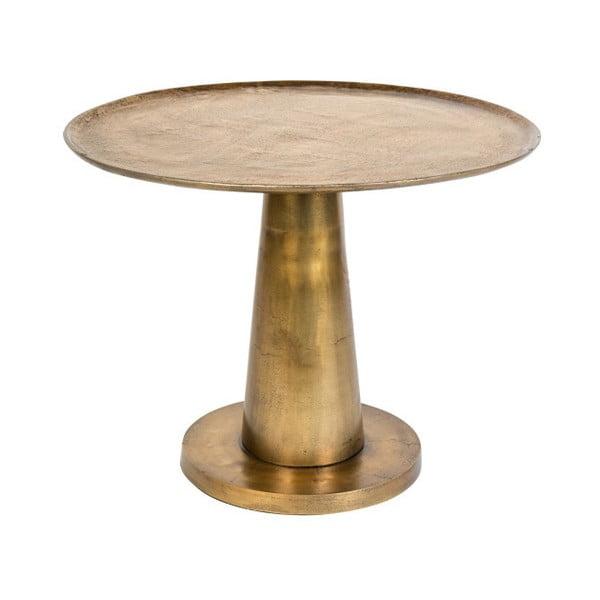 Brute aranyszínű fém dohányzóasztal, ⌀ 63 cm - Dutchbone