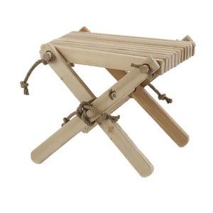 Stolička ze šedého jasanového dřeva EcoFurn Lili