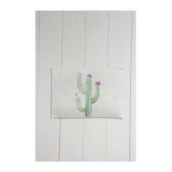 Covor baie Tropica Cactus III, 60 x 40 cm, alb - verde imagine