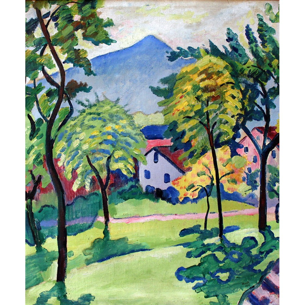 Reprodukce obrazu August Macke - Tegernsee Landscape, 50x60cm