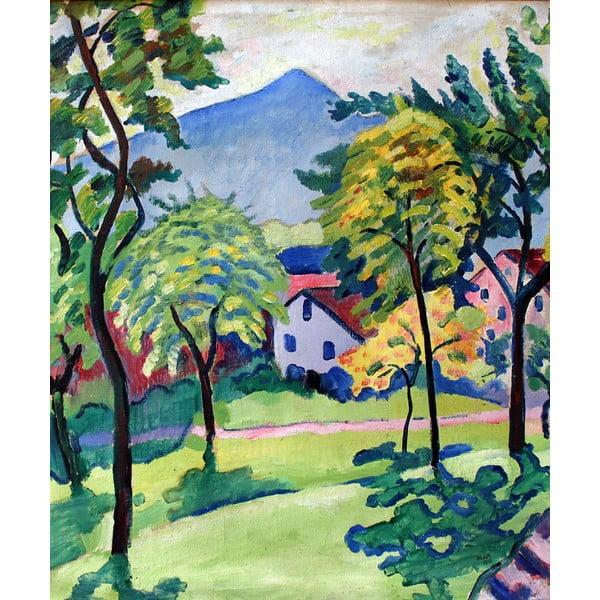 Reproducere tablou August Macke - Tegernsee Landscape, 50 x 60 cm