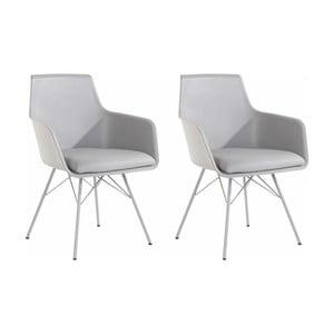 Sada 2 šedých jídelních židlí Støraa Joey