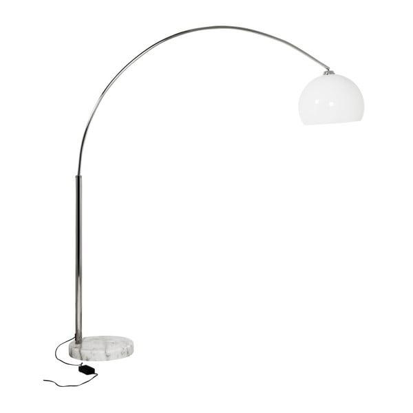 Stojací lampa s bílým stínítkem a mramorovou základnou Kokoon Loft