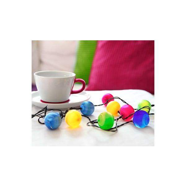 Svítící LED  dekorace Best Season Colour Balls, 10 světýlek