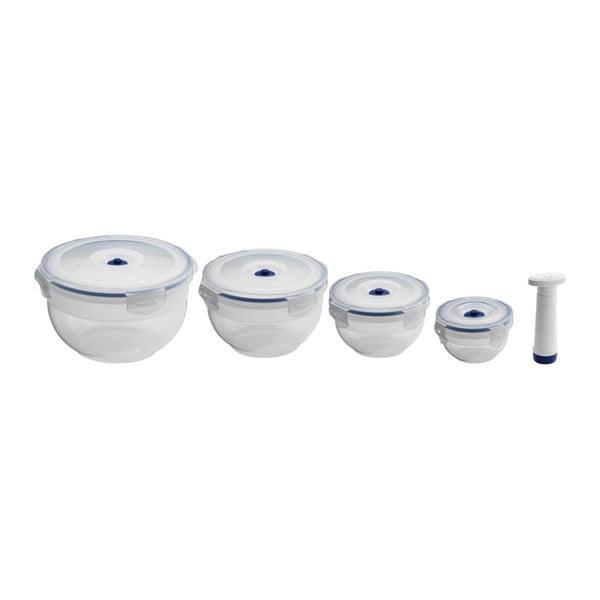Set 4 recipiente pentru stocare alimente și pompă CompactorFoodSaver