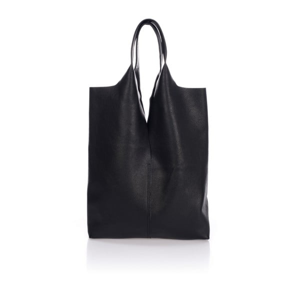 Čierna kožená kabelka Giulia Massari Laurette