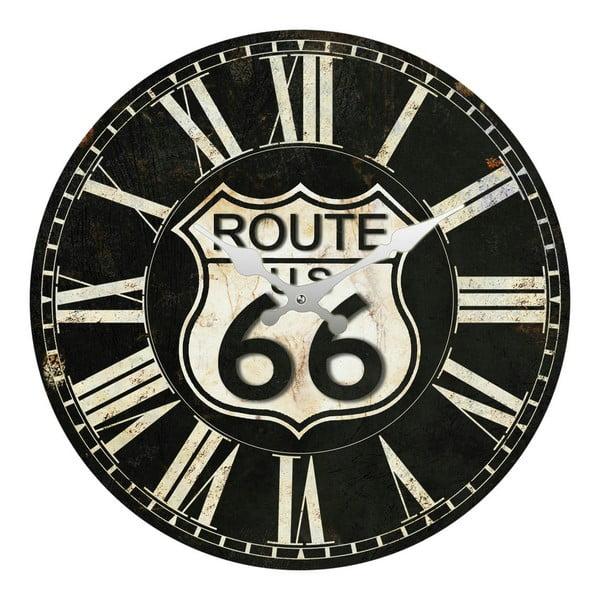 Skleněné hodiny Route 66, 34 cm