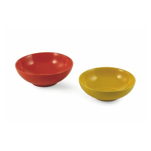 Sada žluté a červené salátové mísy Villa d´Este Baita