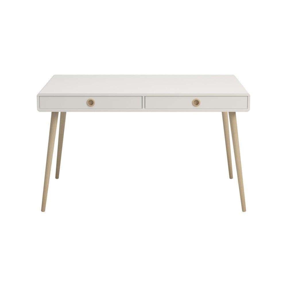 Krémově bílý psací stůl Steens Soft Line, šířka 130,1 cm