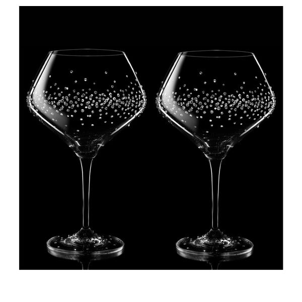 Sada 2 sklenic na víno Hermes se Swarovski Elements v luxusním balení