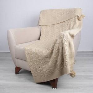 Pătură Homemania Tata, 170 x 130 cm, maro deschis