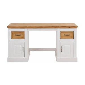 Bílý psací stůl z masivního borovicového dřeva Støraa Suzie