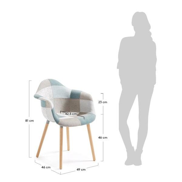 Sada 2 modro-šedých jídelních židlí La Forma Kenna