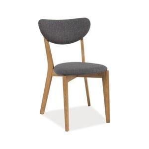 Polstrovaná jídelní židle z dubového dřeva Signal Andre