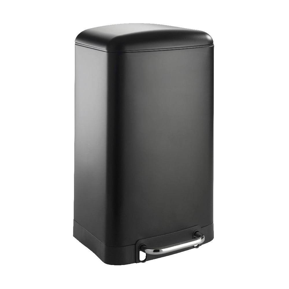 Černý odpadkový koš Wenko, 30 l