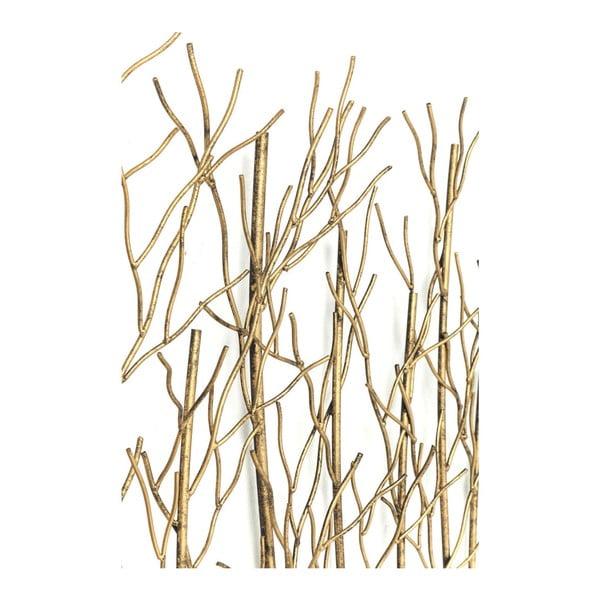 Nástěnný věšák ve zlaté barvě Kare Design Bush