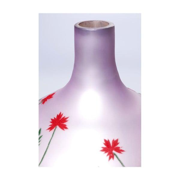 Vază din sticlă Kare Design Dream Of Flowers, înălțime 47 cm
