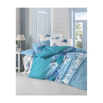 Set lenjerie de pat din bumbac pentru pat dublu Ranforce Acelya 200 x 220 cm de la Victoria