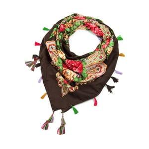 Hnědý šátek Art of Polo Helga