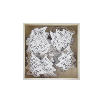 Set 10 decorațiuni Ego dekor Christmas Box, alb imagine