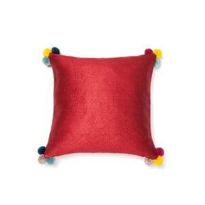 Pernă Casa di Bassi Pom Pom, 40 x 40 cm, roșu