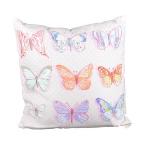 Polštář Pasteloví motýlci, 40x40 cm