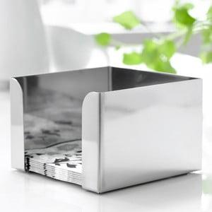Nerezový box na ubrousky Steel Function, 12,5 x 12,5 cm