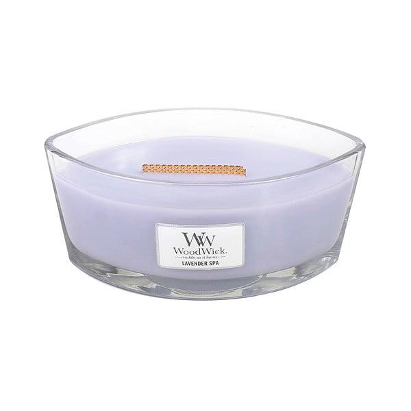 Vonná svíčka WoodWick Levandulová lázeň, 453 g, 50 hodin