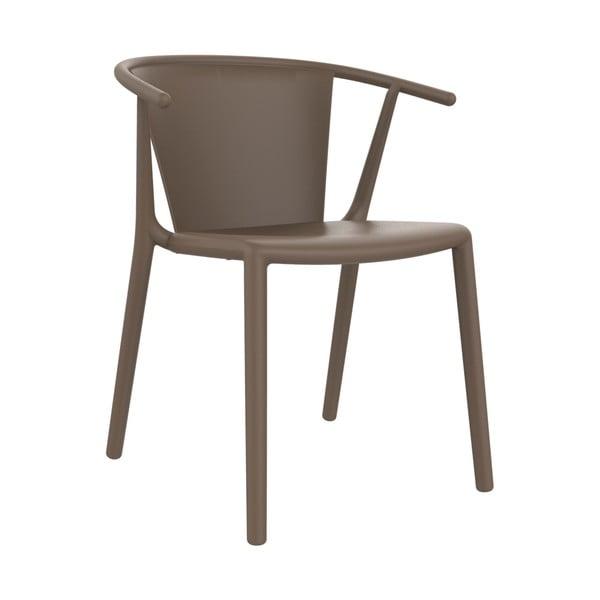Sada 2 záhradných stoličiek v hnedej farbe Resol Steely