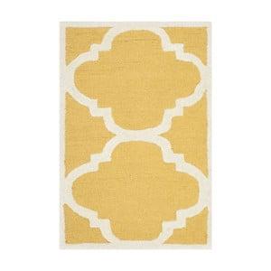 Covor de lână Safavieh Clark, 60 x 91 cm, galben