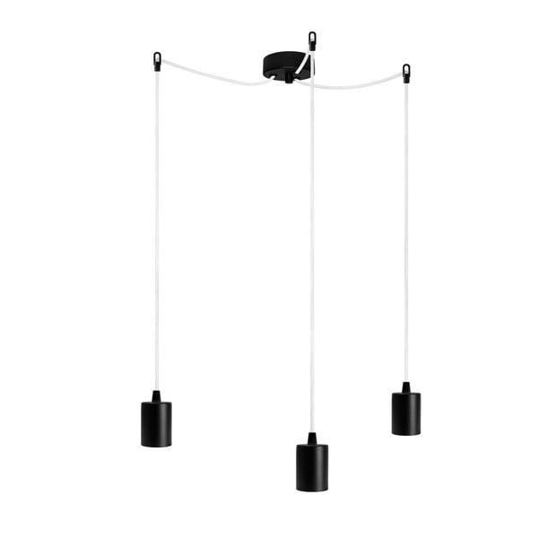Tři závěsné kabely Cero, černá/bílá/černá