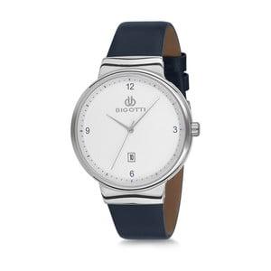 Pánské hodinky s černým koženým řemínkem Bigotti Milano Essence