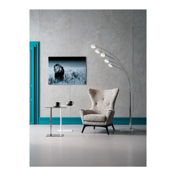 Stojací lampa ve stříbrné barvě Kare Design Five Fingers