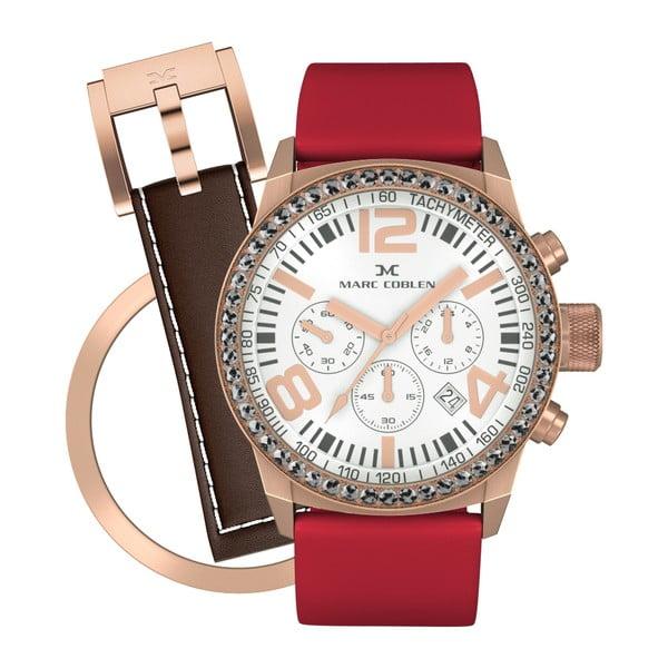 Dámské hodinky Marc Coblen s páskem a kroužkem navíc P84