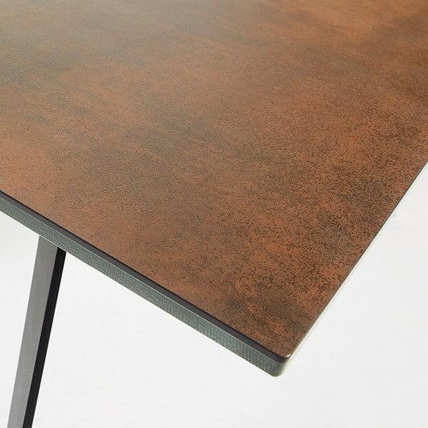Jídelní stůl s hnědou deskou La Forma Nack, 90x160cm