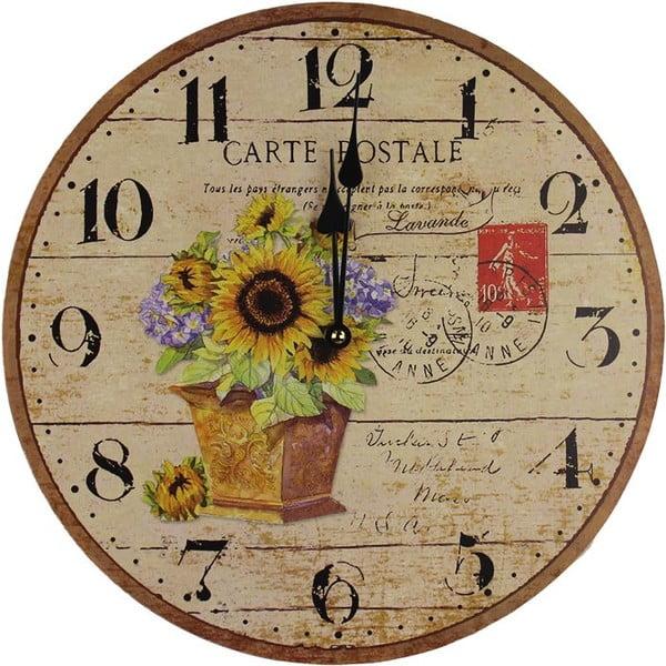 Hodiny Sunflower Post, 34 cm