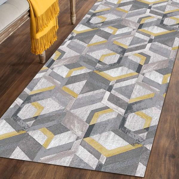 Covor Floorita Retro Grey Ochre, 60 x 240 cm